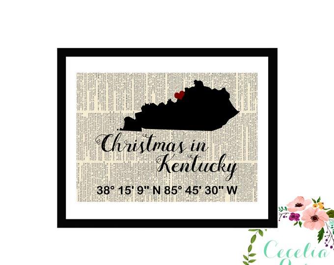 Christmas in Kentucky Louisville Custom Coordinates