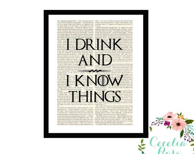 I Drink and I Know Things GOT Game Of Thrones Tyrion Lannister