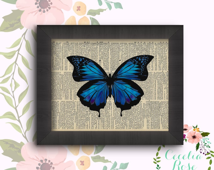 Blue Indigo Butterfly