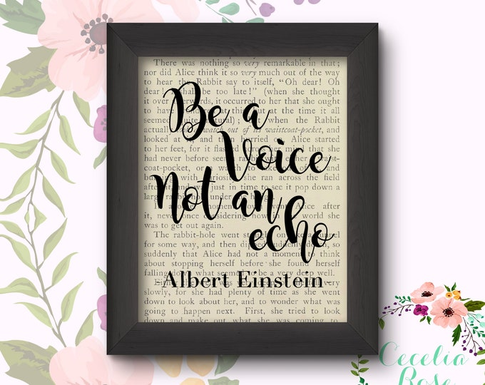 Be A Voice Not An Echo