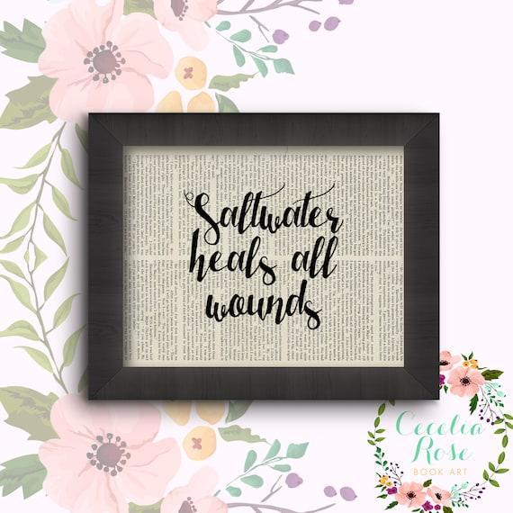Saltwater Heals All Wounds