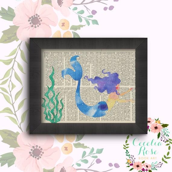 Mermaid with seaweed