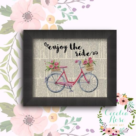 Enjoy The Ride - Vintage Bicycle
