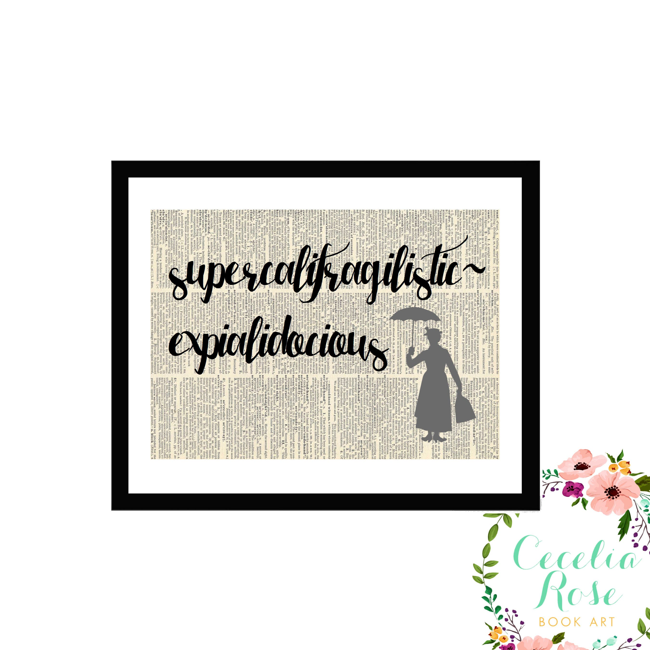 supercalifragilisticexpialidocious mary poppins disney typography