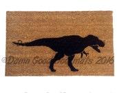 T Rex security warning doormat™ funny dino pre-historic doormatt dinosaur