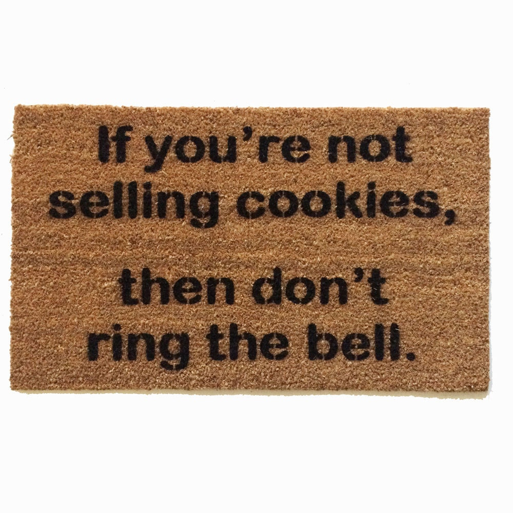 Not Selling Cookies Don T Ring The Bell Girl Scouts