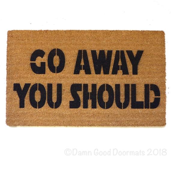 Star Wars Go Away You Should Yoda Funny Nerdy Doormat Rude Etsy