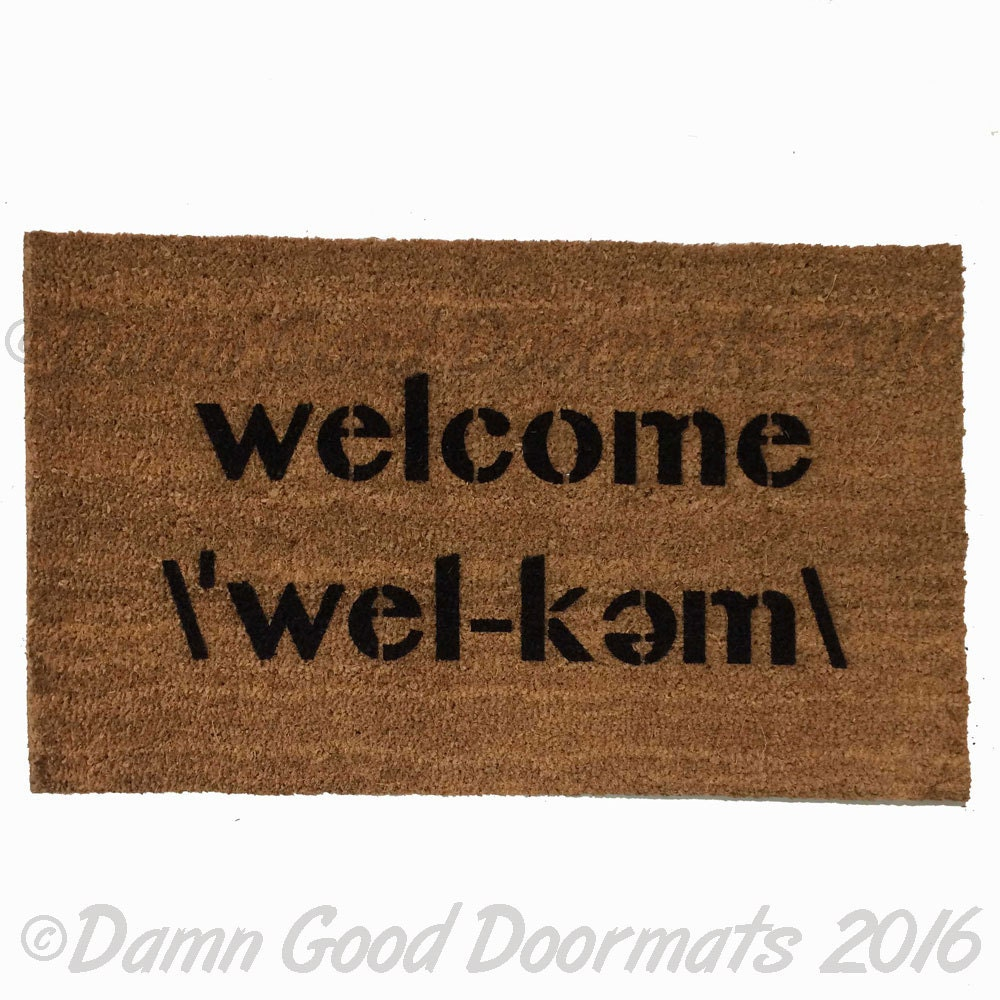 Webster Dictionary Definition Welcome Mat Funny Doormat Etsy