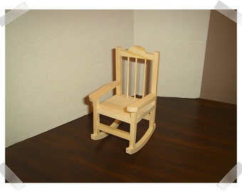Ordinaire Unfinished Wooden Rocking Chair/Miniature/Craft Supplies*/Last One**
