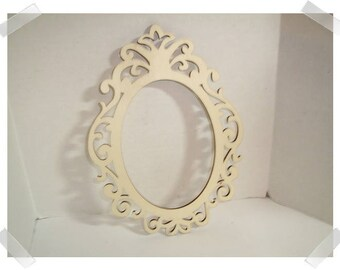 Free Shipping oval picture frame Wooden oval frame Choose Size: 3.5 x 5 up to 12 x 16 inches flat oval frame photo frame