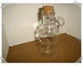 Vintage clear glass Jug with handle measurements Home Decor