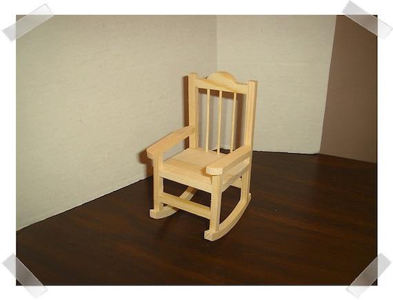 Bon Unfinished Wooden Rocking Chair/Miniature/Craft Supplies   Etsy