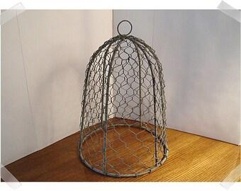 Chicken Wire Cloche with Aged Finish/Home Decor/Supplies*