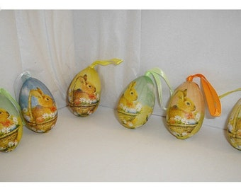 Easter Eggs Decoration/ Set of 6/ Holiday/ Craft Supplies*