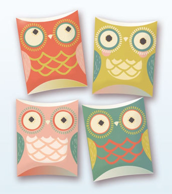 Owl pillow gift boxes PDF template   Etsy