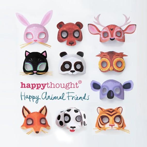10 Printable Animal Masks Dog Cat Bear Owl Fox Tiger Deer