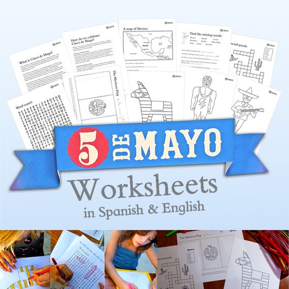 Mexicos Cinco De Mayo Worksheets In Spanish And English Etsy