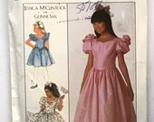 Girls Dress in Two Lengths pattern bySimplicity 8985