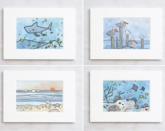 Mini Print Set, Choose your own animal illustration series