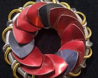 Red and Black Turbine medallion