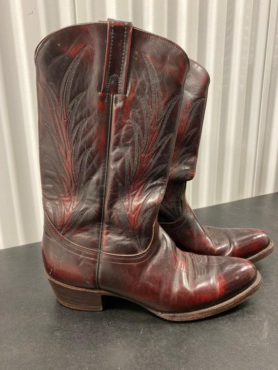 Ox Blood Frye Boots Cowboy Boots