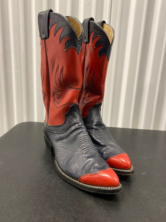 Black and Red Olatre Cowboy Boots