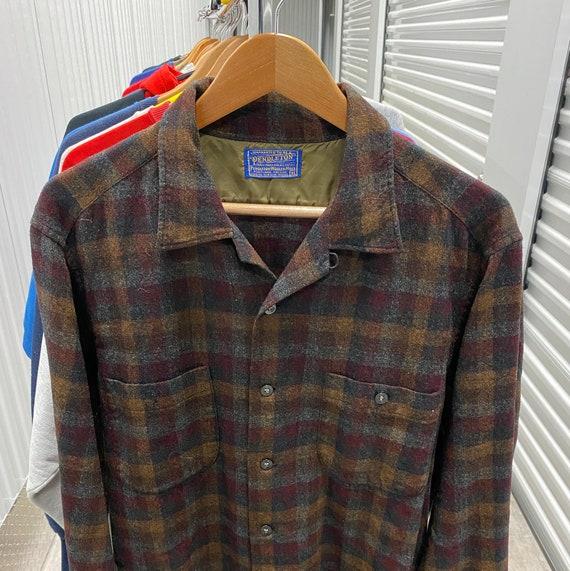 1970s Pendleton Loop Collar Wool Camp Shirt