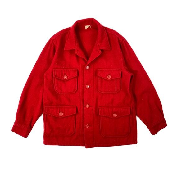 1950s Red Bemidji Wool Shirt