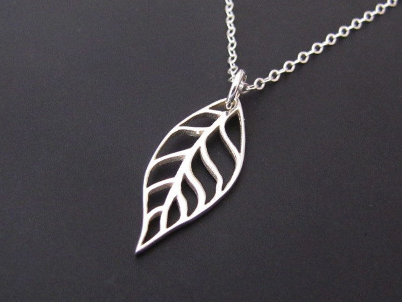 Jewelry Gift Leaf Necklace Pendant Necklace Sterling Silver Necklace