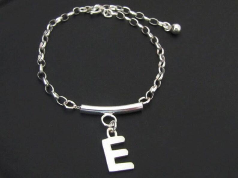 Personalized Jewelry Bar Bracelet Initial Bracelet Jewelry Sterling Silver Friendship Bracelet Personalized Bracelet Gift