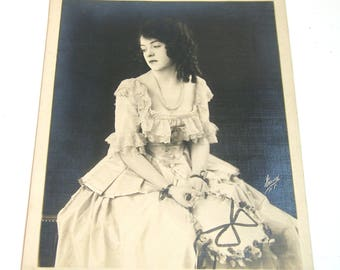"""Pretty Girl Vintage Photograph Large 8"""" x 10"""" Black and White"""