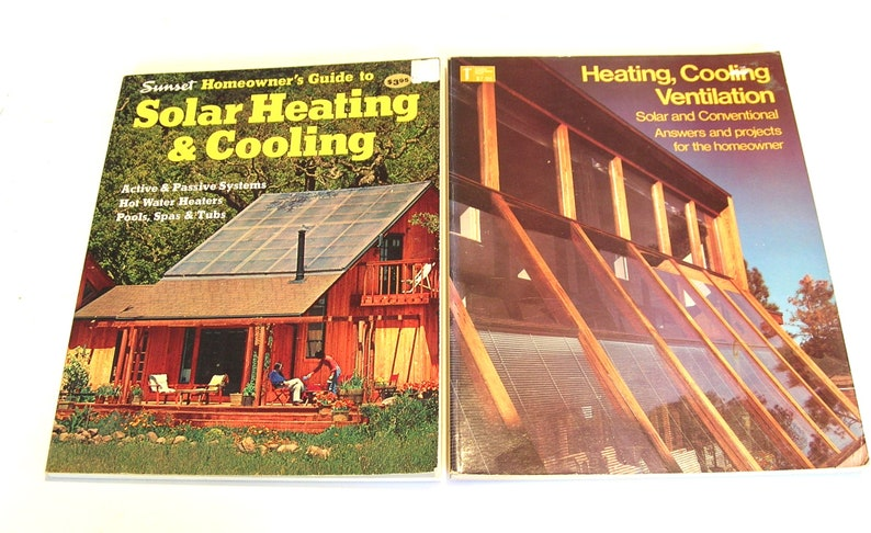Solar Heating, Cooling and Ventilation Vintage Books Two Books