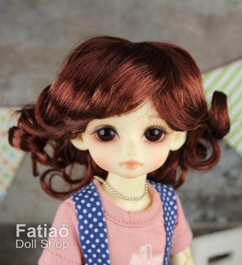 """New Chocolate Dolls Wig Dollfie Yo-SD 1//6 BJD 6-7/"""" size Fatiao"""
