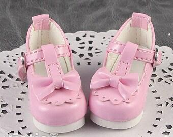 Fatiao - New Dollfie Yo-SD 1/6 BJD Doll High Heeled Shoes - Pink (Size 4.5cm)