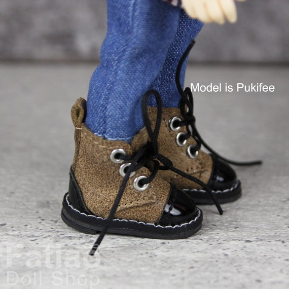 Fatiao New Lati Yellow Pukifee BJD Doll Short boots shoes Red Size 2.5cm