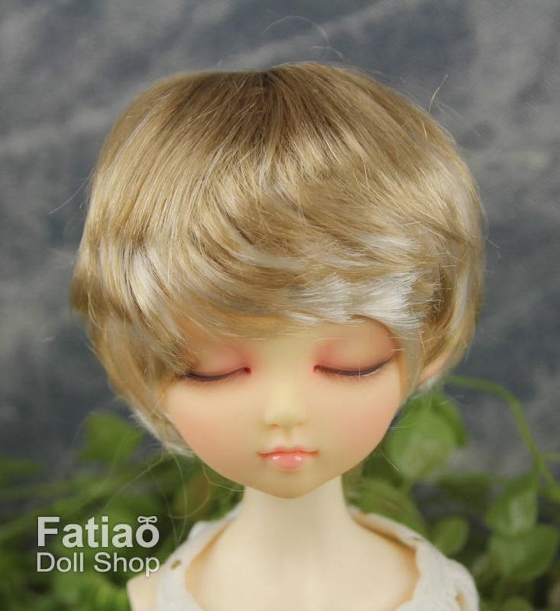 "New Blonde Dolls Wig for Kaye Wiggs Dollfie MSD 1//4 BJD 7-8/"" size"