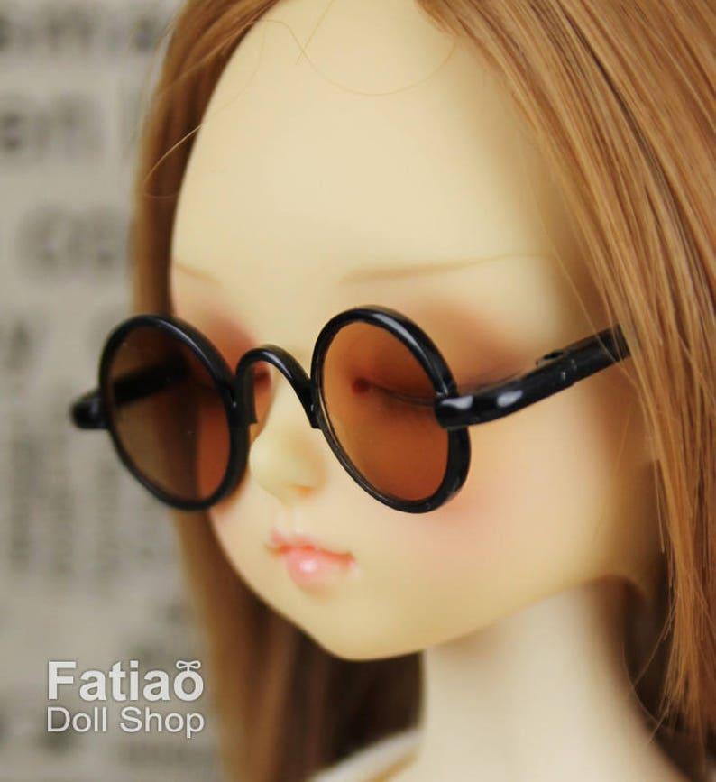6ce52a1ddd621 New fashion Dolls Round frame glasses fit 1 4 BJD MSD mini