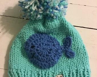 6e65208f01018 Knit whale hat