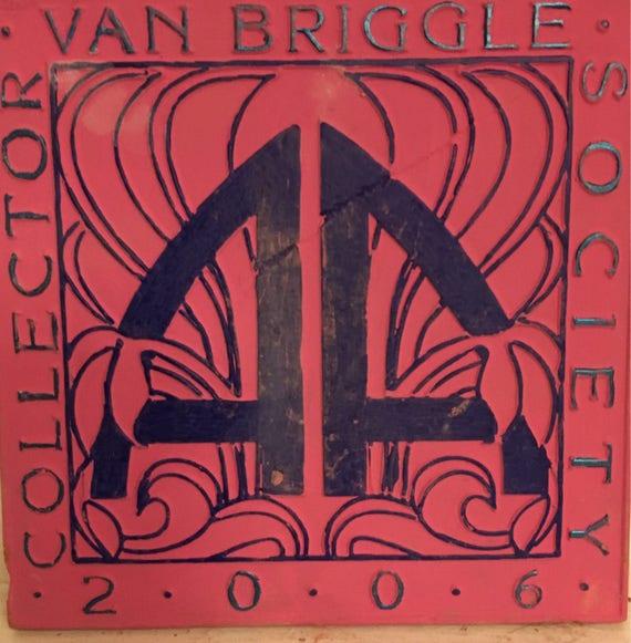 Van Briggle Pottery Tile Single Painted  2006 Collectors Tile