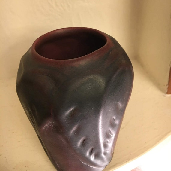 Van Briggle Pottery Mulberry Leaf  Vase