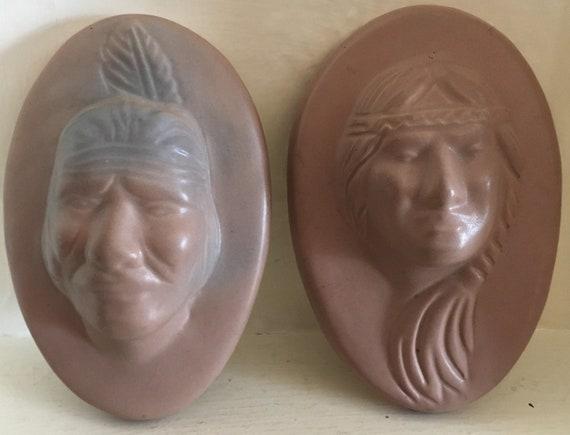 Van Briggle Pottery Woman Black Head