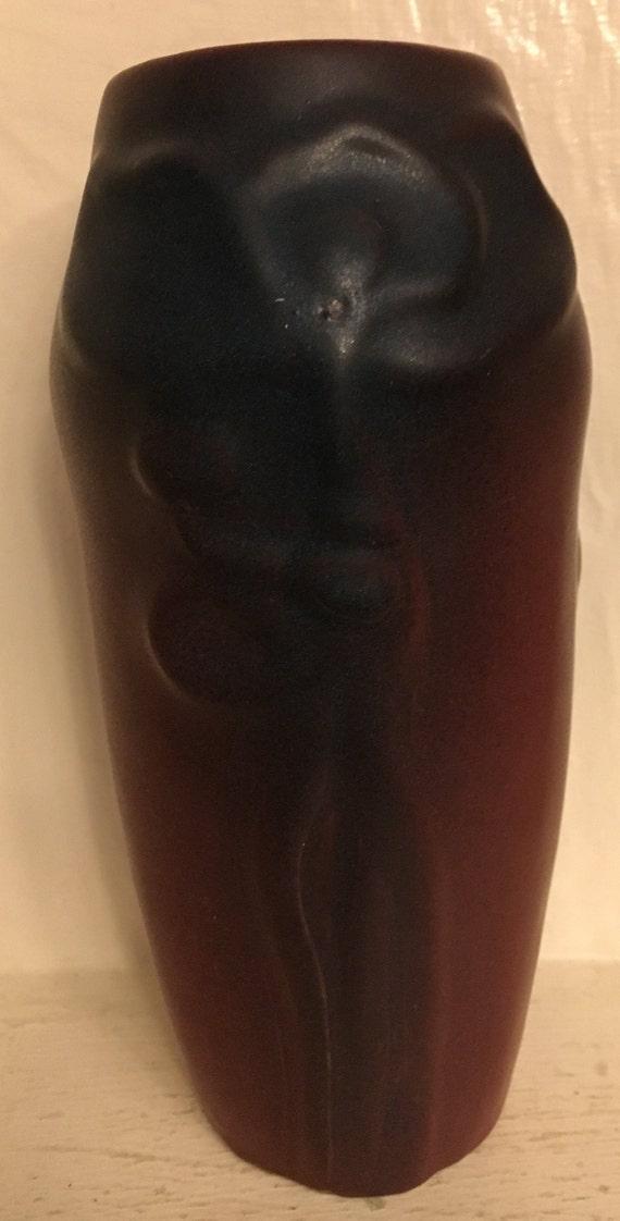 Van Briggle Pottery Poppies & Pod Vintage  Mulberry 1920-1930's