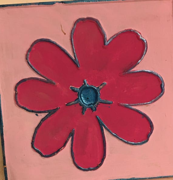 Van Briggle Pottery Single Painted Flower only one