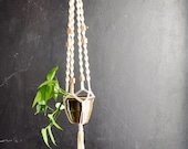 Vintage Macrame Large Hanging Planter 1970s Home Decor