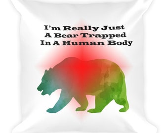 Grizzly Bear in Winter Body Pillow
