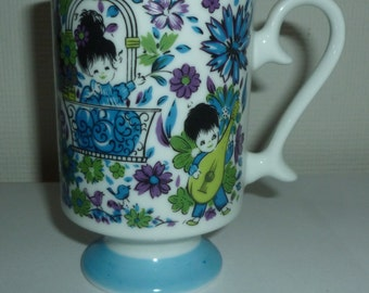 Vintage Asian Young Lovers Coffee Mug
