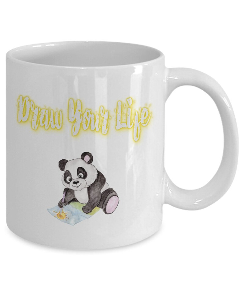 Bear Coffee Her Artist Art Panda Mug Lover Draw For Him Your Life Gift m0wN8n