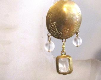 Wholesale vintage brass earrings