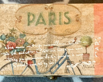 Paris themed decorative box