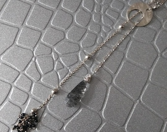 Sterling silver lariat by Eissa